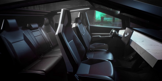 2021 Tesla Cybertruck Interior