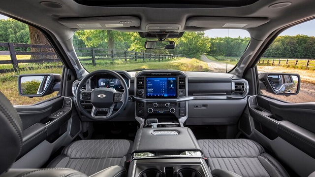 2021 Ford F-150 Electric Truck Interior